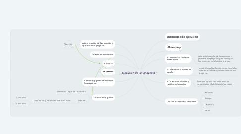 Mind Map: Ejecución de un proyecto