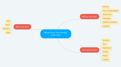 Mind Map: What Does Test Anxiety Look Like?