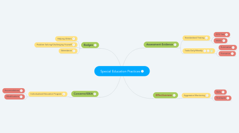 Mind Map: Special Education Practices