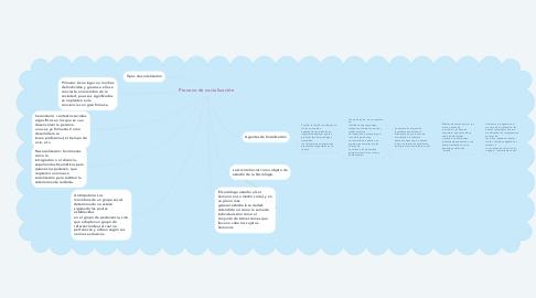 Mind Map: Proceso de socialización