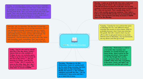 Mind Map: My Weekly Routine