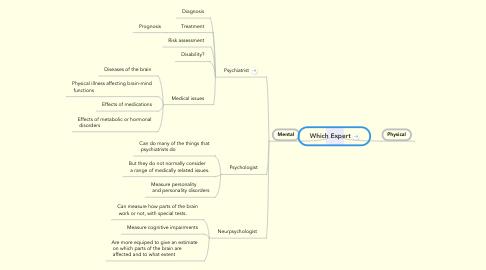 Mind Map: Which Expert