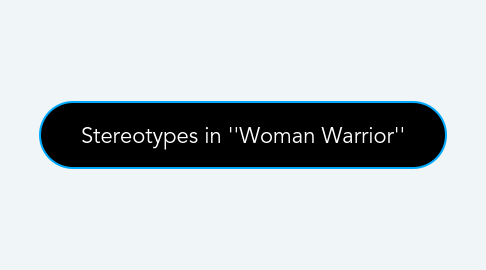 Mind Map: Stereotypes in ''Woman Warrior''