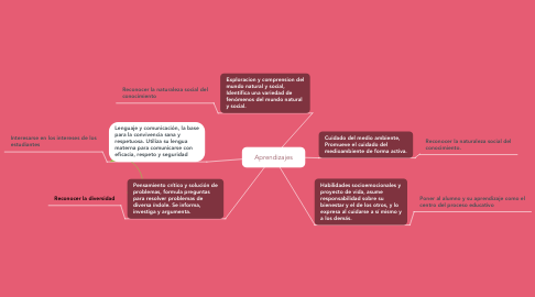 Mind Map: Aprendizajes