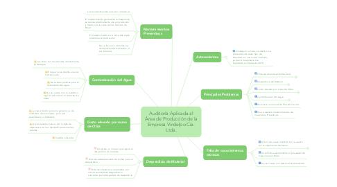 Mind Map: Auditoría Aplicada al Área de Producción de la Empresa Vindelpo Cía. Ltda.