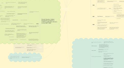 Mind Map: Planes Económicos (1976-2001)