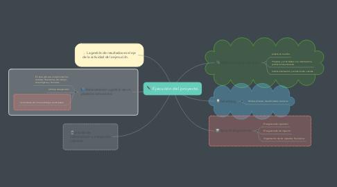 Mind Map: Ejecución del proyecto