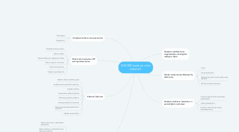 Mind Map: KOKYBĖ (kada tai virsta sistema?)