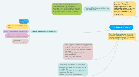 Mind Map: The Cognitive Process