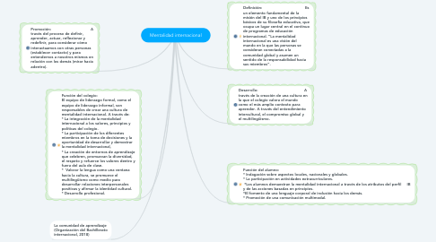Mind Map: Mentalidad internacional