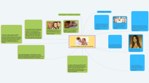 Mind Map: Los Tipos de Apegos que presenta la Consultante