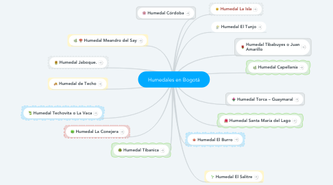 Mind Map: Humedales en Bogotá