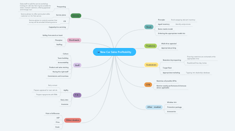 Mind Map: New Car Sales Profitability