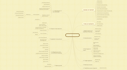 Mind Map: IMPORT PROCESS 2