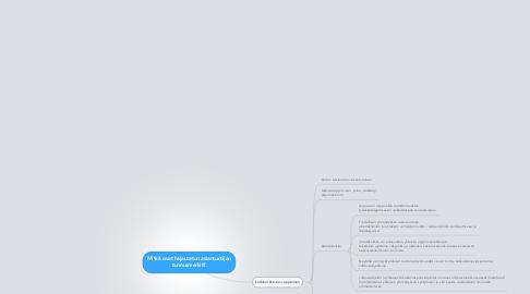 Mind Map: Mitkä ovat hajautetun asiantuntijan tunnusmerkit?