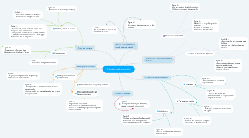 Mind Map: Attentes Institutionnelles