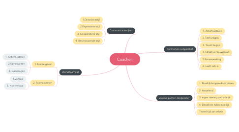 Mind Map: Coachen