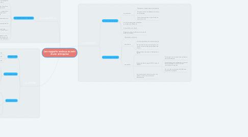 Mind Map: Les rapports sociaux au sein d'une entreprise