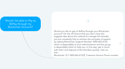 Mind Map: Would i be able to Pay to BitPay through my Blockchain Account?