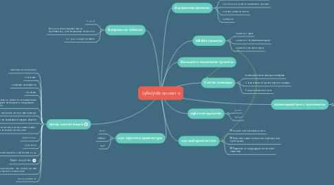 Mind Map: Lyfecycle проекта