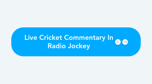 Mind Map: Live Cricket Commentary In Radio Jockey