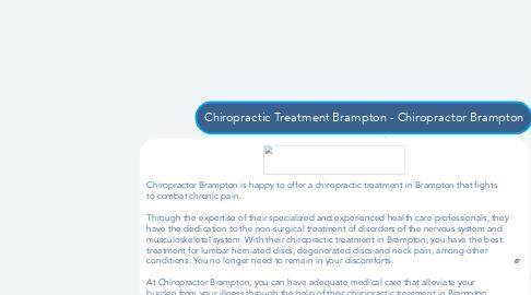 Mind Map: Chiropractic Treatment Brampton - Chiropractor Brampton