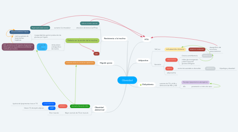 Mind Map: Obesidad
