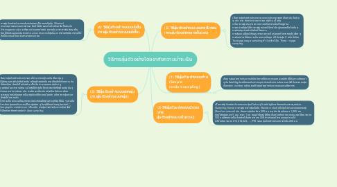 Mind Map: วิธีการสุ่มตัวอย่างโดยอาศัยความน่าจะเป็น