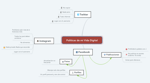 Mind Map: Politicas de mi Vida Digital