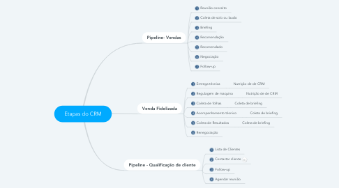 Mind Map: Etapas do CRM