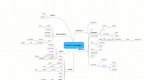 Mind Map: brand montagna
