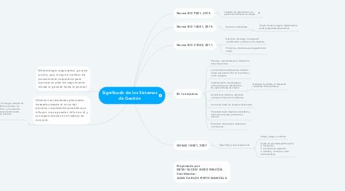Mind Map: Significado de los Sistemas de Gestión