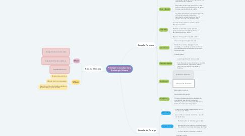 Mind Map: Principales escuelas de la Sociología Urbana