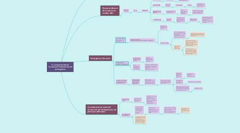 Mind Map: El comportamiento humano en situaciones de emergencia