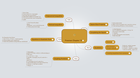 Mind Map: Freeman Chapter 13