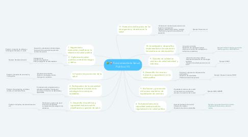 Mind Map: Funciones de la Salud Publica (11)