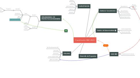 Mind Map: Coordinador BIM UNIG
