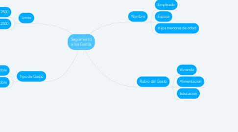 Mind Map: Seguimiento a los Gastos
