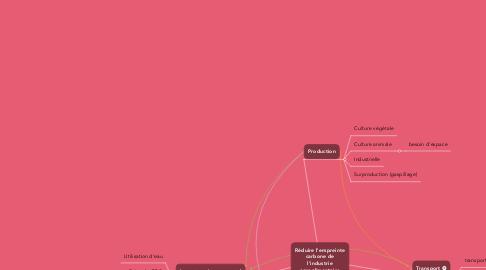 Mind Map: Empreinte carbone de l'industrie du textile