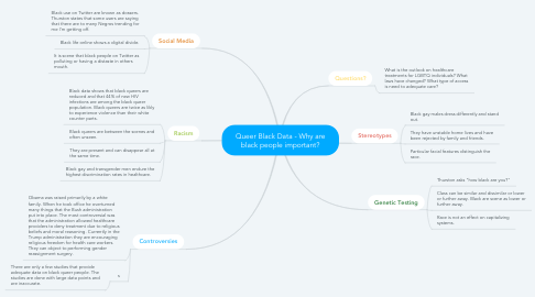 Mind Map: Queer Black Data - Why are black people important?
