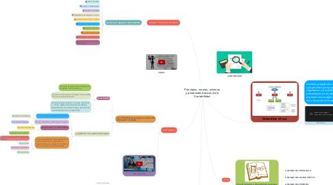 Mind Map: Principios, normas, axiomas y postulados básicos de la Contabilidad