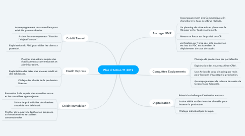 Mind Map: Plan d'Action T1 2019