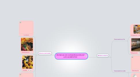 Mind Map: TÉCNICAS DE CONSERVACIÓN DE LOS ALIMENTOS