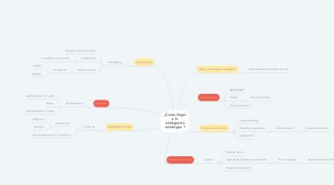 Mind Map: ¿Como llegar a la inteligencia ontológica ?