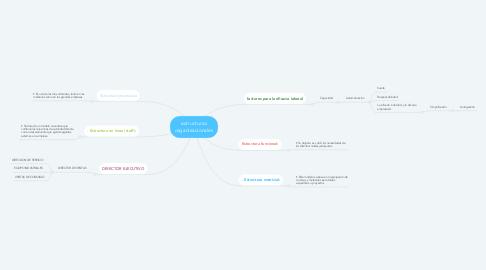 Mind Map: estructuras organizacionales