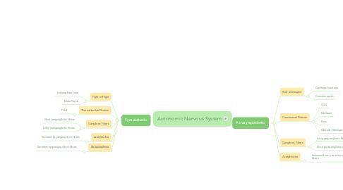 Mind Map: Autonomic Nervous System