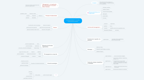 Mind Map: MANAGEMENT Y CLIMA ORGANIZACIONAL