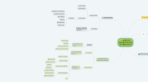 Mind Map: BASES DE SEGMENTACIÓN DE MERCADOS