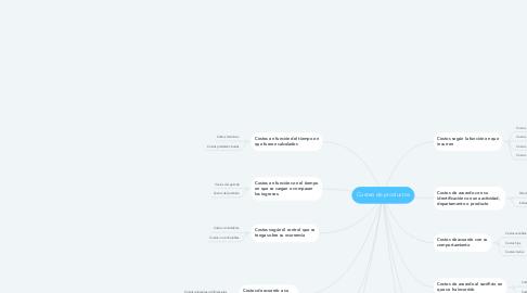 Mind Map: Costeo de productos