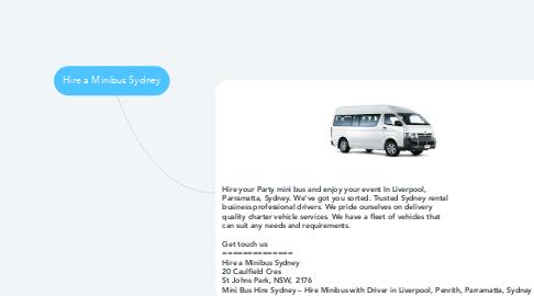 Mind Map: Hire a Minibus Sydney
